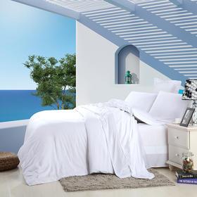 南通家纺网 床上用品 新款60S纯色天丝四件套-纯白色