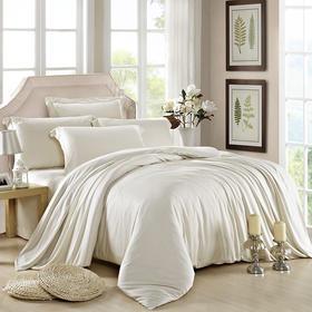 南通家纺网 床上用品 新款60S纯色天丝四件套-米灰色