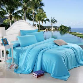 南通家纺网 床上用品 欧式80天丝纯色四件套 批发代理