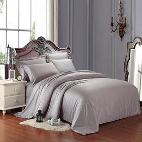 南通家纺网 床上用品 欧式纯色双拼 全棉60贡缎长绒棉四件套