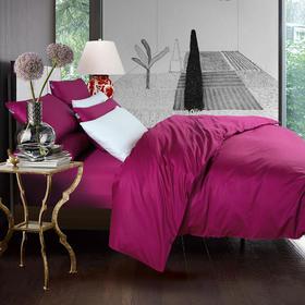 南通家纺网 床上用品 厂家直销 欧式简约全棉100支贡缎长绒棉纯色双拼四件套