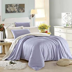 南通家纺网 床上用品 新款60S天丝四件套-淡蓝配米灰