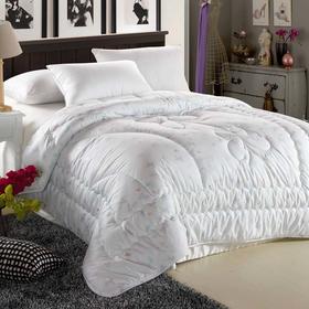 南通家纺网 床上用品 全棉超细纤维羽丝绒保暖冬被 采蝶纷飞