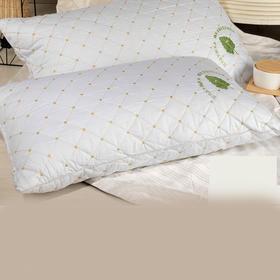 南通家纺网 保健护颈枕芯 绗缝抗菌环保蚕丝枕