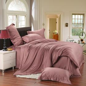 南通家纺网床上用品欧式奢华纯色天丝四件套 浅咖 独家产品